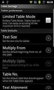 Multiplication Tables Legacy screenshot 2