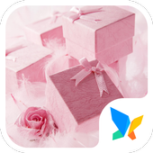 Pink gift box 91 Launcher Theme icon