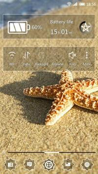 Starfish in the sun 91 Launcher Theme poster