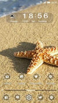 Starfish in the sun 91 Launcher Theme apk screenshot