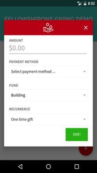 FellowshipOne Giving apk screenshot