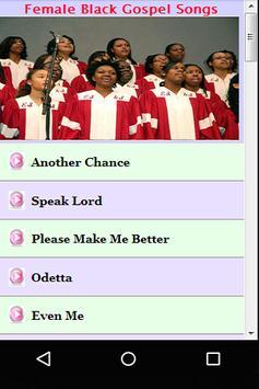 Female Black Gospel Songs screenshot 4