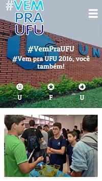 Vem pra UFU poster