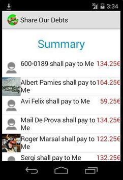 Expense Sharer screenshot 2