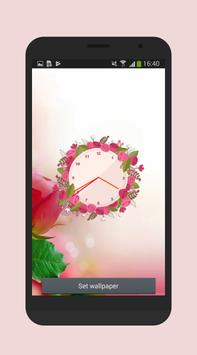 Rose clock live wallpaper screenshot 3