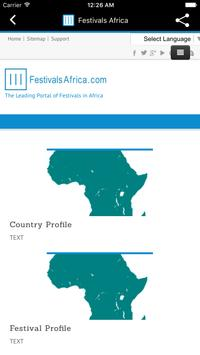 Festivals Africa apk screenshot