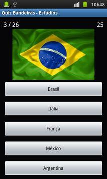 Quiz das Bandeiras e Estádios apk screenshot