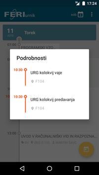 FERI urnik apk screenshot