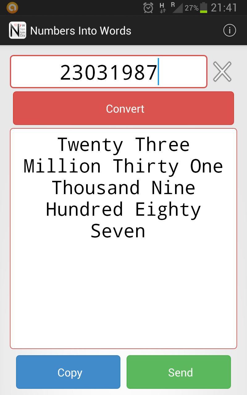 تحويل الأرقام إلى حروف For Android Apk Download