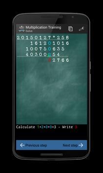 Multiplication Training apk screenshot