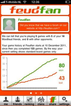 Feudfan - Wordfeud tracker poster