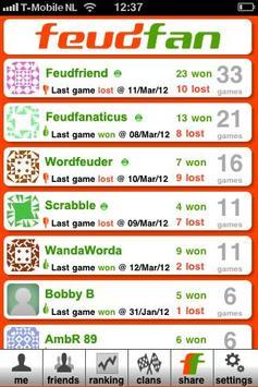 Feudfan - Wordfeud tracker screenshot 2