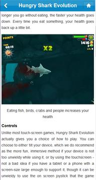 Ref.Guide for Hungry Shark Evo تصوير الشاشة 1