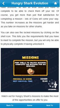 Ref.Guide for Hungry Shark Evo تصوير الشاشة 2