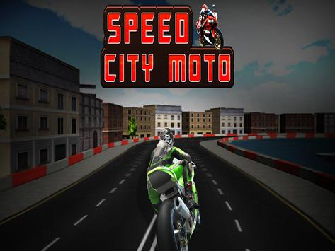Speed City Motorcycle poster