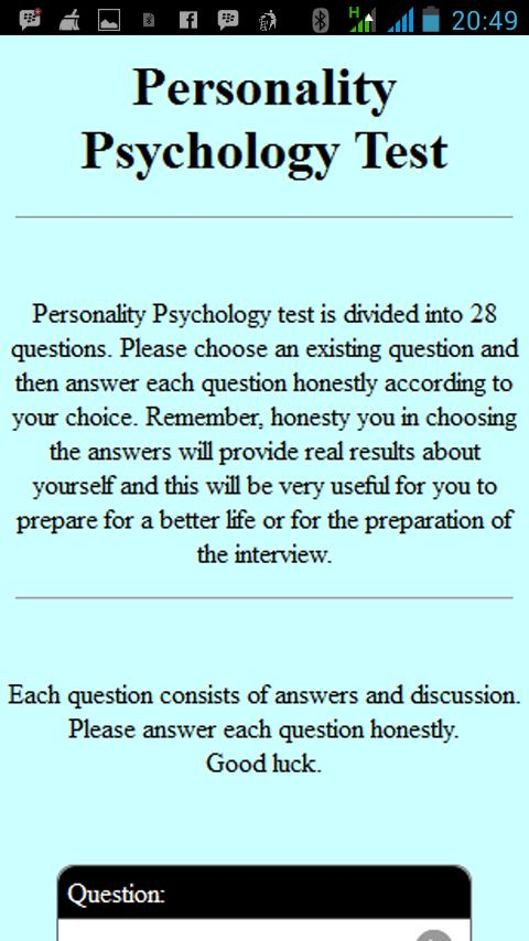 Personality Psychology Test for Android - APK Download