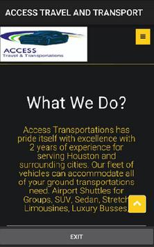 Access Travel & Transportation poster