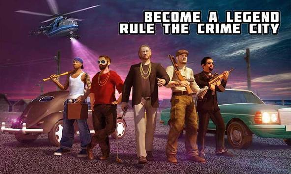 Crime City Mafia Gang War Car Theft Gangster Games poster