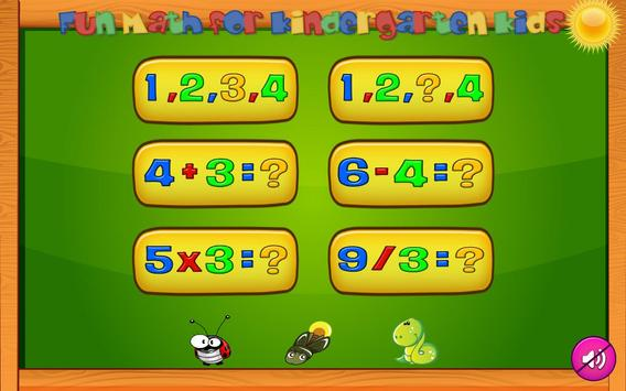 Basic Math Learning and Preschool games for kids poster