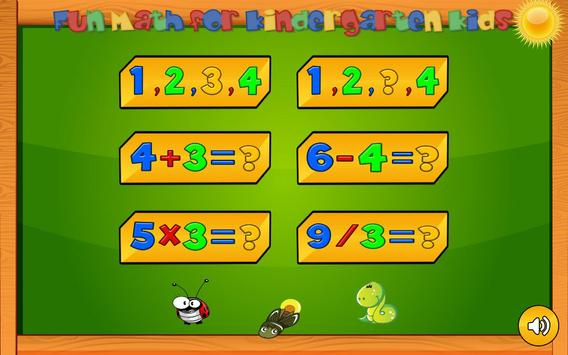 Preschool basic skills, numbers poster