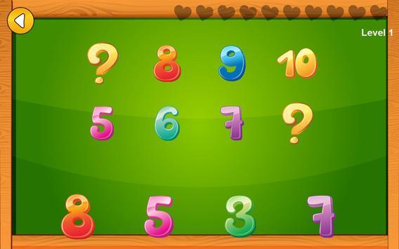 Preschool basic skills, numbers screenshot 2