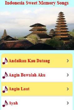 Indonesia Sweet Memory Songs apk screenshot