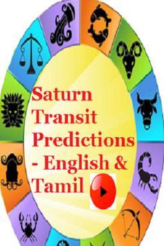 Saturn Transit Predictions - English & Tamil poster