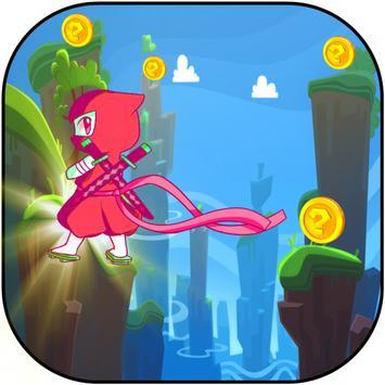Ninja Red Shinobi Run apk screenshot