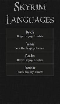 Skyrim Languages poster