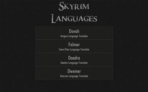 Skyrim Languages screenshot 6