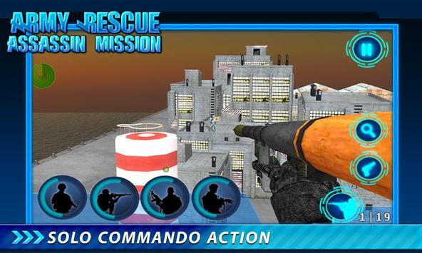 Army Rescue Assassin Mission screenshot 1
