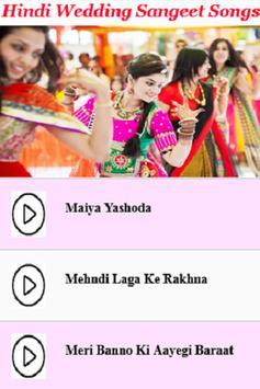 Hindi Wedding Sangeet Songs apk screenshot