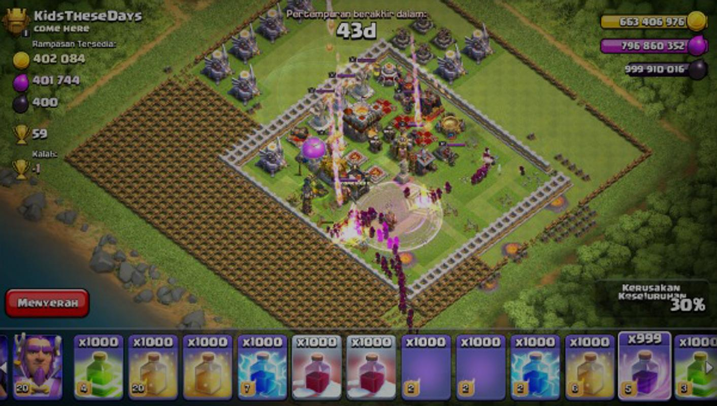 Fhx Clash Of Lights Coc For Android Apk Download