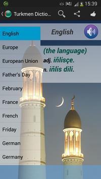 Turkmen Dictionary apk screenshot