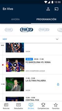 FOX Sports captura de pantalla 1