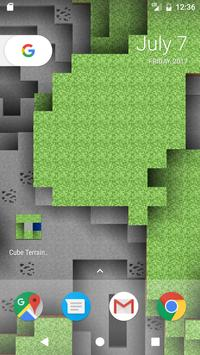 Cube Terrain 3D Holographic Live Wallpaper poster