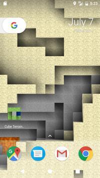 Cube Terrain 3D Holographic Live Wallpaper apk screenshot