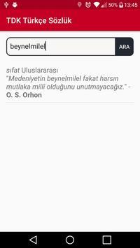 TDK Türkçe Sözlük screenshot 1