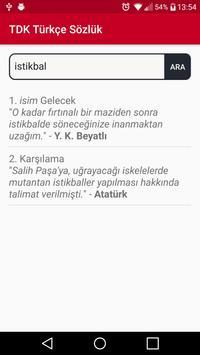 TDK Türkçe Sözlük screenshot 2