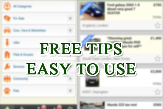 Free Gumtree Classifieds Tips poster