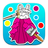 Coloring: Dresses for Girls icon