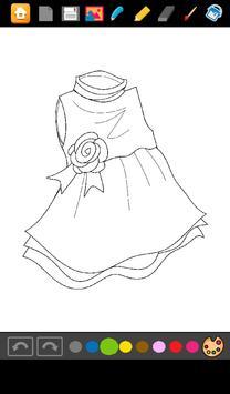 Coloring: Dresses for Girls screenshot 10