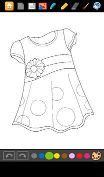 Coloring: Dresses for Girls screenshot 2