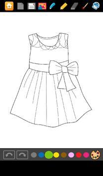 Coloring: Dresses for Girls screenshot 3