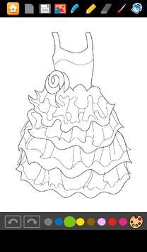 Coloring: Dresses for Girls screenshot 5