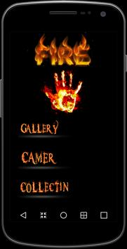 Fire Name Photo frames poster