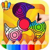🇺🇸 Fidget Spinner Game Coloring Book Pages: free icon