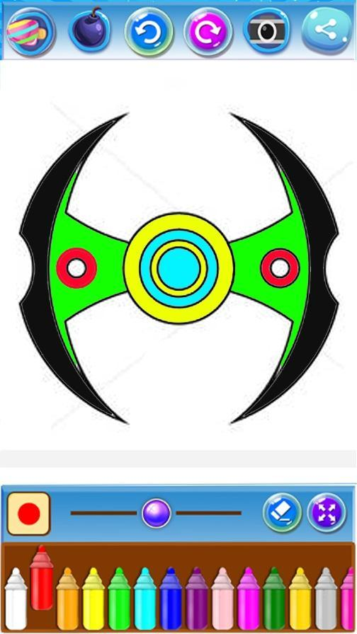 🇺🇸 Fidget Spinner Game Coloring Book Pages: free poster