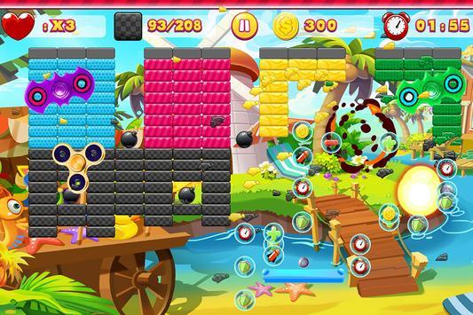 Fidget Spinner Brick Breaker Ball Block Classic screenshot 1