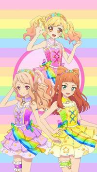 Aikatsu Friends Wallpaper poster